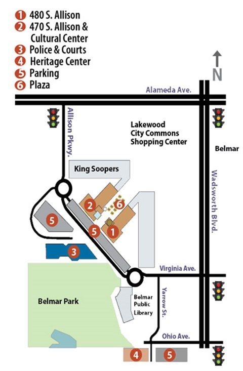 Civic Center Map