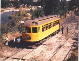 Historic Photo of Car 24 at Clear Creek Stop