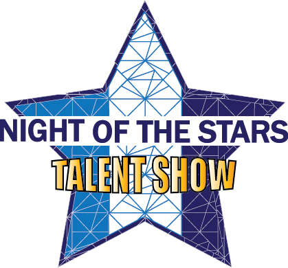 Night of the Stars talent show logo.