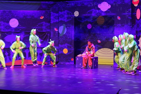 A youth theatre performance takes place on the LCC stage.