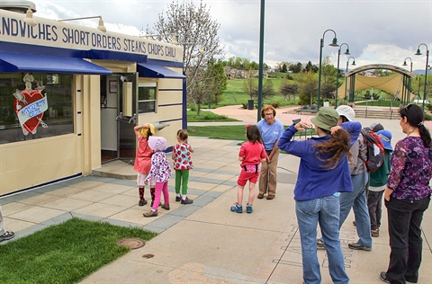 A guided tour takes place during Heritage Days.
