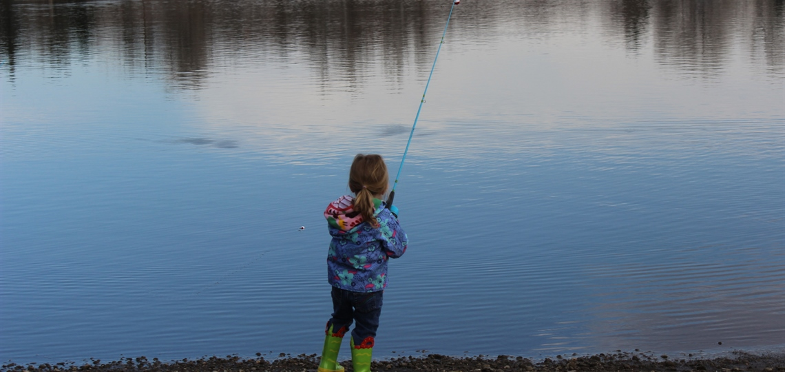Main Reservoir with girl fishing