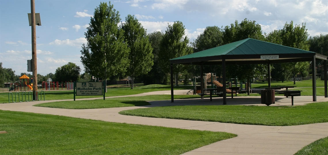 Molholm Park with shelter and playground