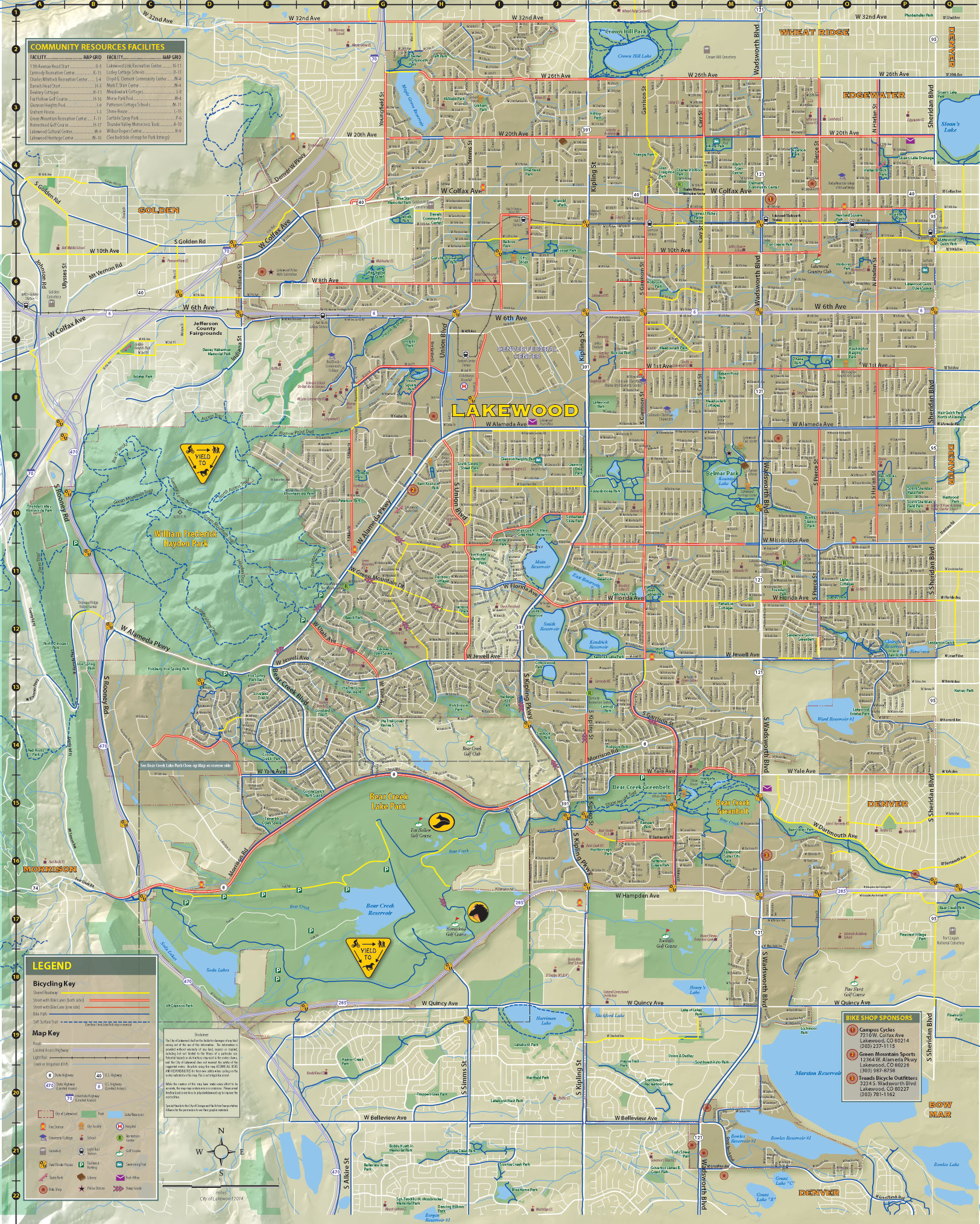Lakewood Colorado Map Trail Maps   City of Lakewood