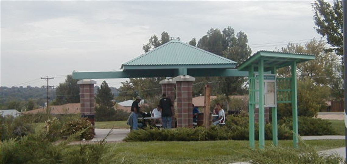 Walker Brand Park picnic shelter and tables