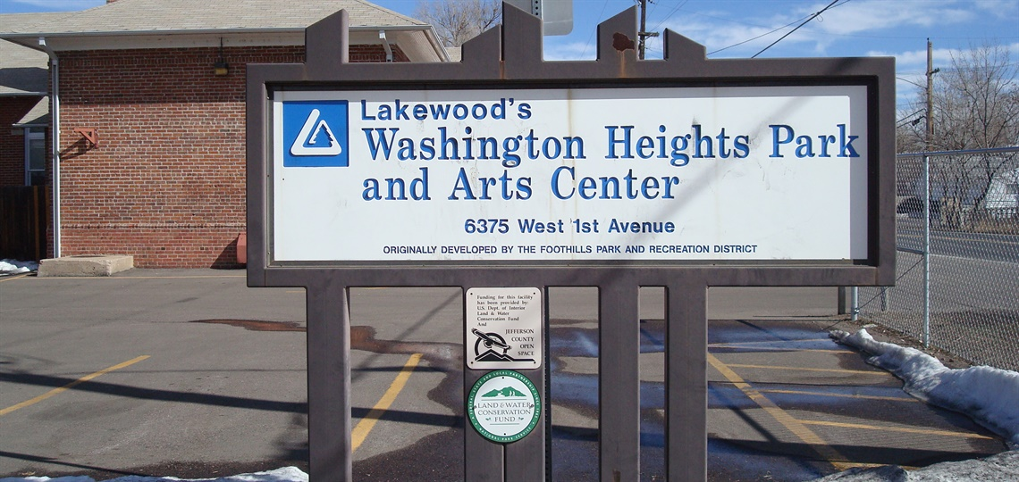 Washington Height Park and Arts Center sign