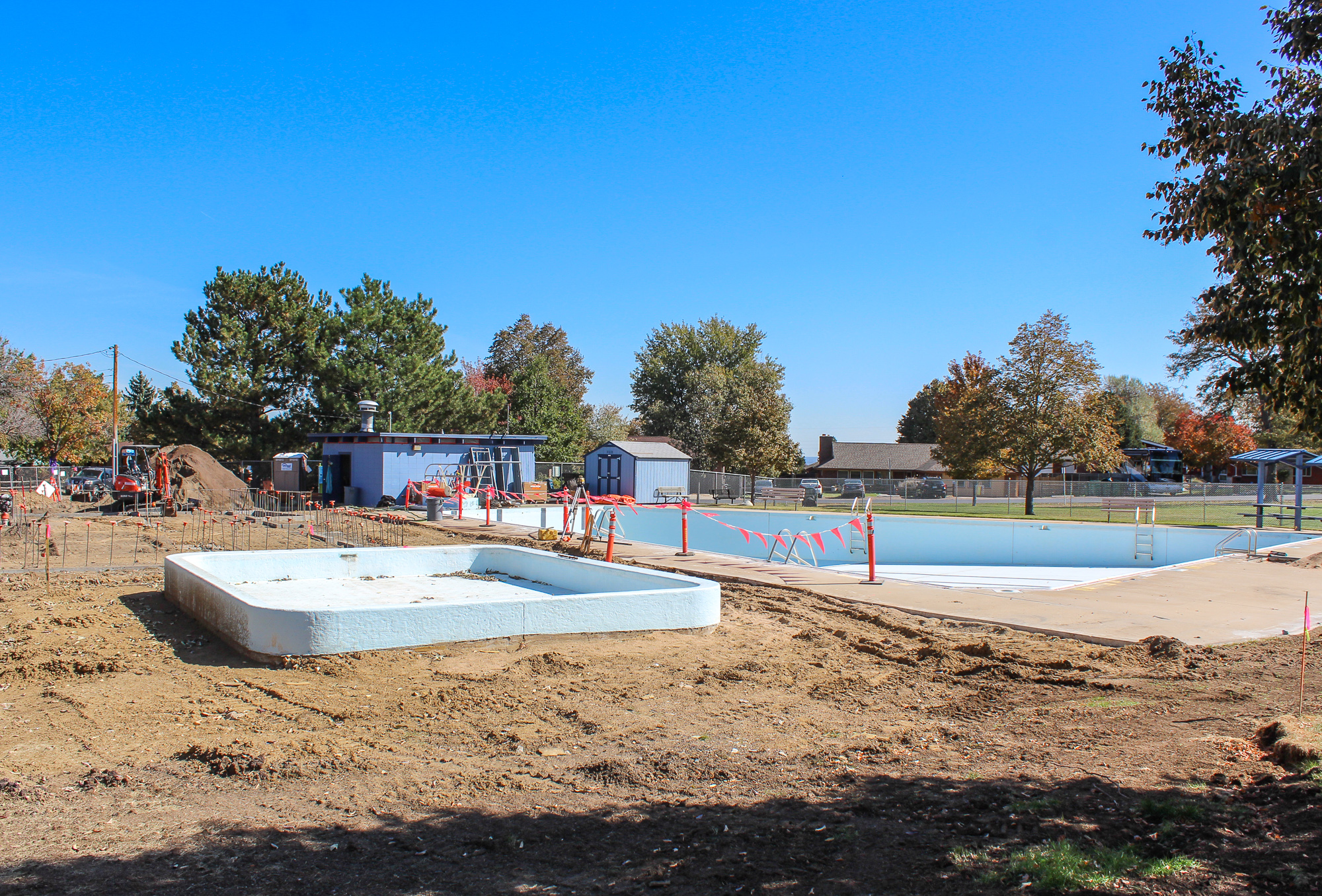 Glennon Heights pool construction October 2019.