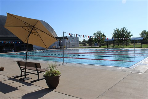 The outdoor pool at Carmody Recreation Center.