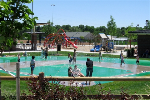 A view of the Ray Ross Splash Pad.