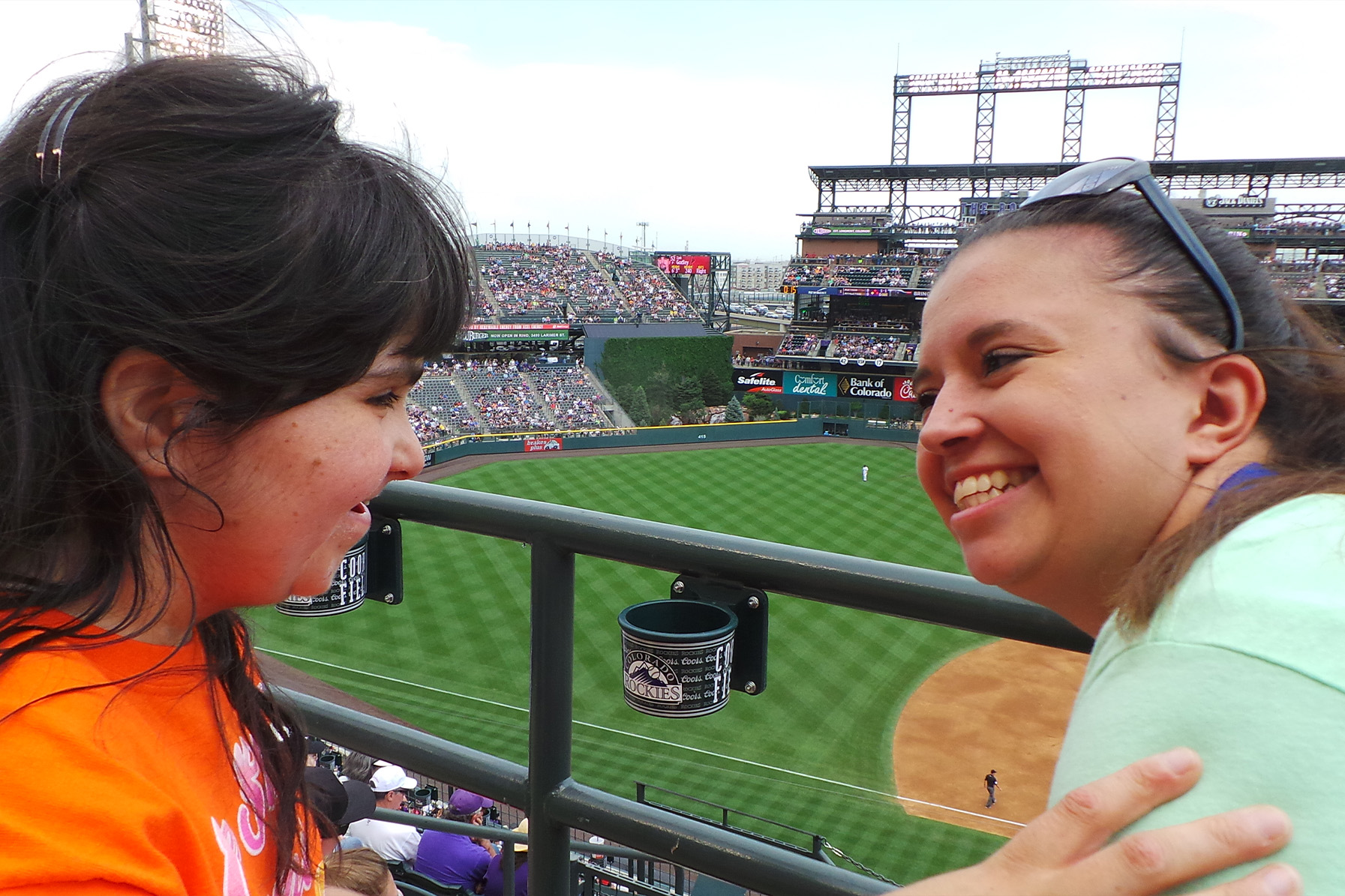Therapeutic recreation participants at a Colorado Rockies game.