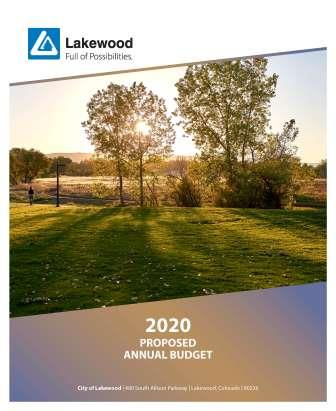 Image of 2020 Proposed Budget Cover Sheet