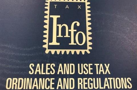 Cover of the Lakewood Sales and Use Tax Ordinance and Regulations book.