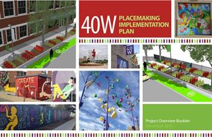 The cover for the 40 West Placemaking Implementation Plan.