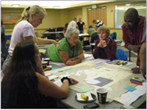 Group activity during a Citizens Planning Academy class.