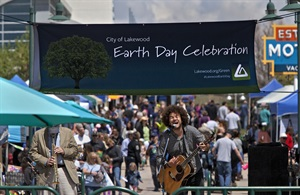 Band and attendees celebrate Lakewood Earth Day
